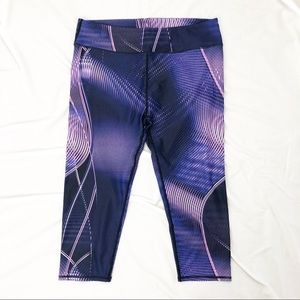 Fabletics Pants - Fabletics Purple Stripe Workout Capris Size Large